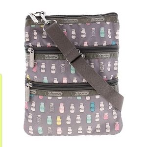 Lesportsac Milk Carton 3 Zipper Kasey Crossbody